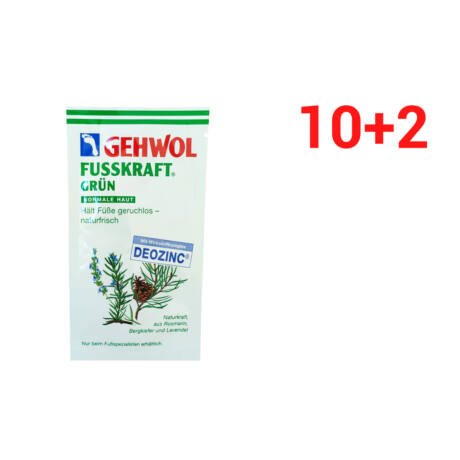 Set mostre GEHWOL FUSSKRAFT® GREEN pentru piele normală 10+2 BUC