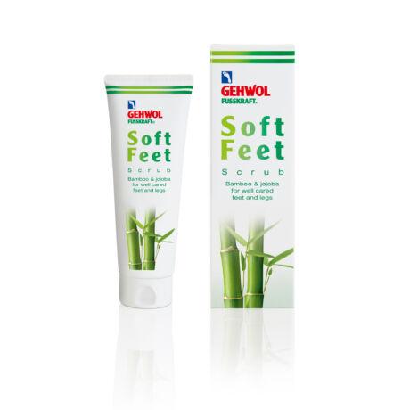 Exfoliant cu bambus și jojoba GEHWOL FUSSKRAFT® Soft Feet Scrub, 125 ml