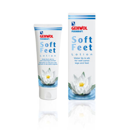 Loțiune cu nufăr și mătase GEHWOL FUSSKRAFT® Soft Feet Lotion, 125 ml