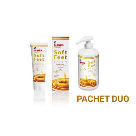 Pachet DUO Cremă cu lapte și miere GEHWOL FUSSKRAFT® Soft Feet Cream