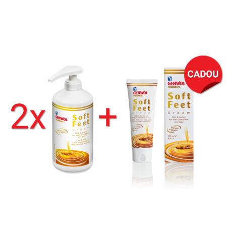 Pachet 2+1 Cremă cu lapte și miere GEHWOL FUSSKRAFT® SOFT FEET Cream