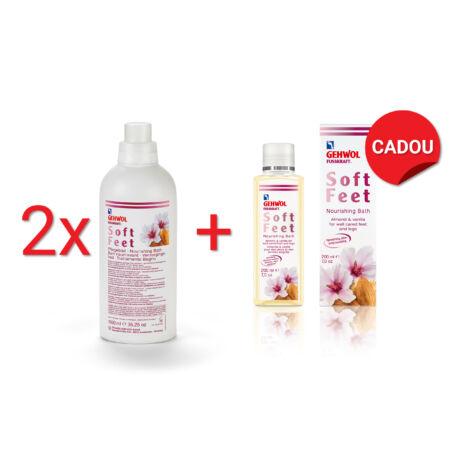 Pachet 2+1 Esență pentru băi de picioare GEHWOL FUSSKRAFT® Soft Feet Nourishing Bath